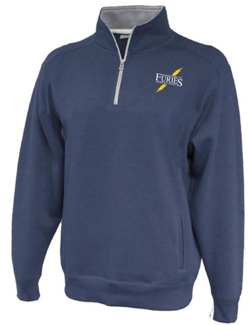 Furies 1/4-Zip Fleece, Heathered Navy
