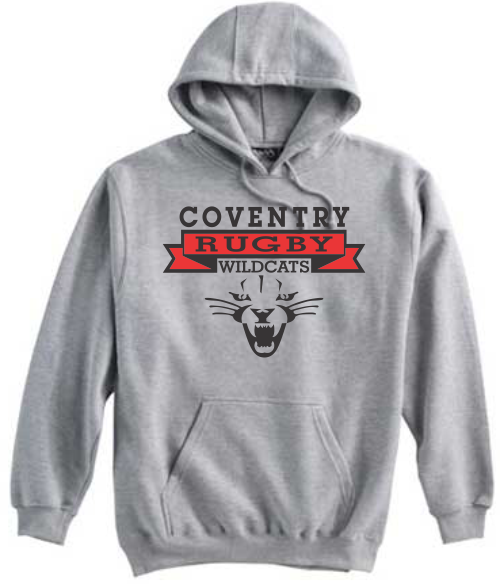 Coventry Rugby Wildcats Hoodie, Gray