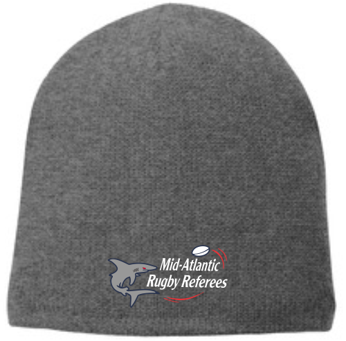 Mid-Atlantic Rugby Referees Fleece-Lined Beanie, Oxford Gray