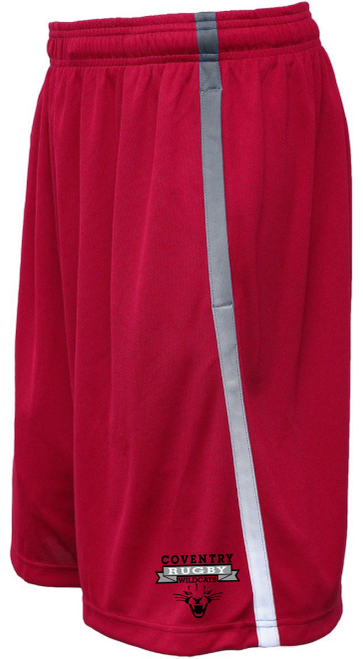 Coventry Rugby Wildcats Gym Shorts, Red