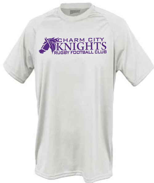 Charm City Knights Performance Tee, White