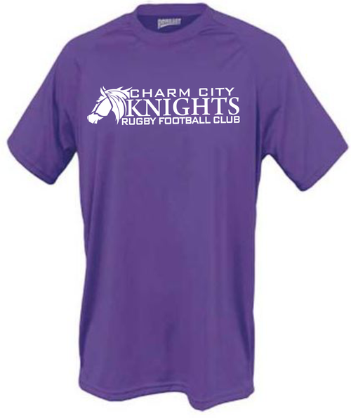 Charm City Knights Performance Tee, Purple