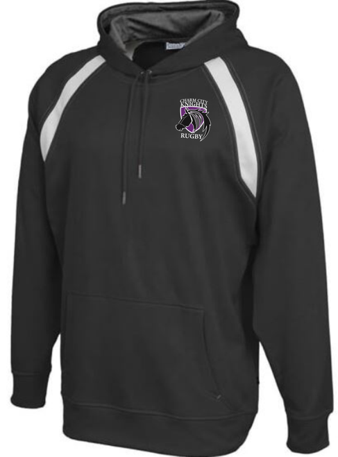 Charm City Knights Rugby Colorblocked Hoodie, Black