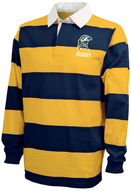 SMCM Rugby Stripe Polo, Navy/Gold