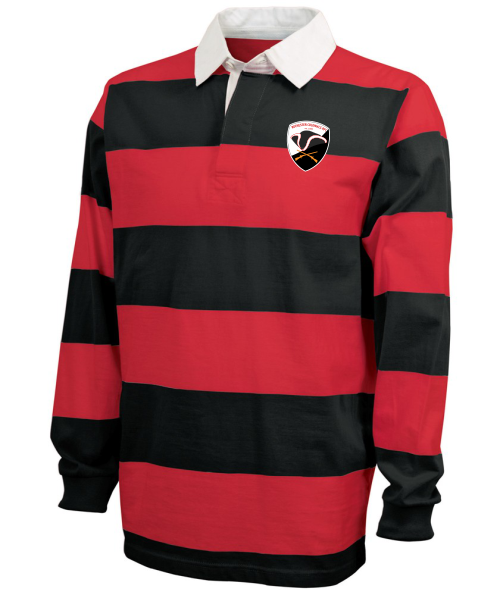 Rochester Colonials Stripe Polo, Red/Black