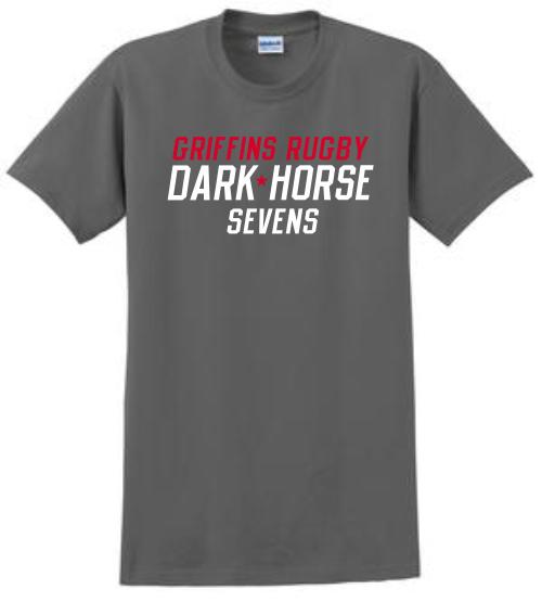 Dark Horse 7s Cotton Tee, Charcoal