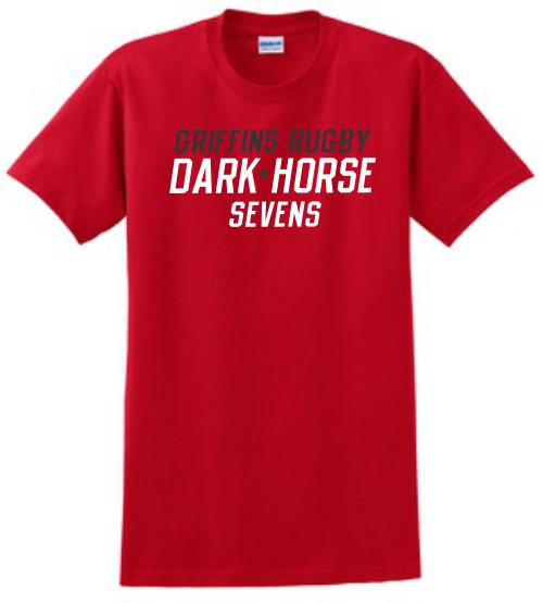 Dark Horse 7s Cotton Tee, Red