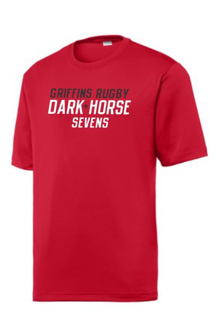 Dark Horse 7s Performance Tee, Red