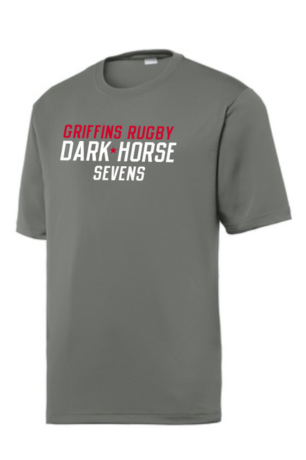 Dark Horse 7s Performance Tee, Graphite