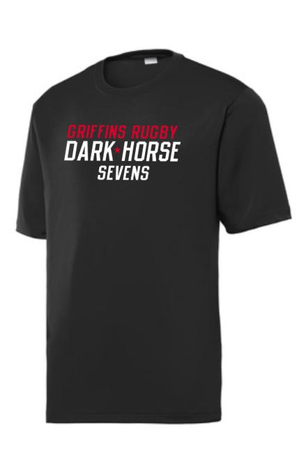 Dark Horse 7s Performance Tee, Black