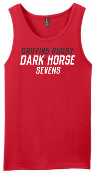 Dark Horse 7s Tank Top, Red