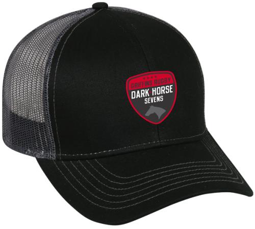 Dark Horse 7s Mesh-Back Adjustable Hat, Black/Charcoal