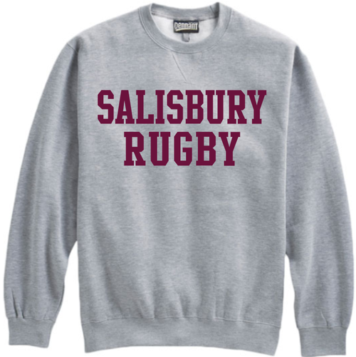 Salisbury Rugby Crewneck Fleece, Gray