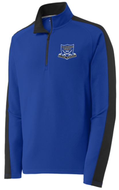 Warriors Colorblock Textured 1/4-Zip Pullover