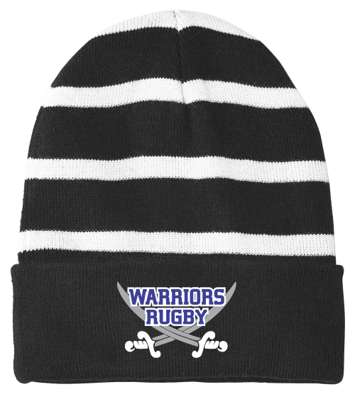Warriors Fleece-Lined Stripe Beanie