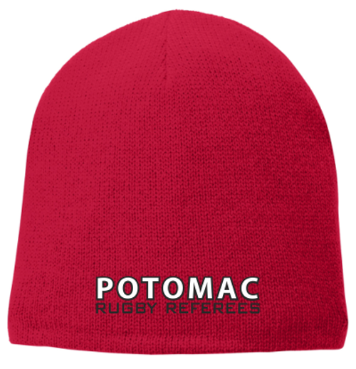 Potomac Referees Fleece-Lined Beanie, Red