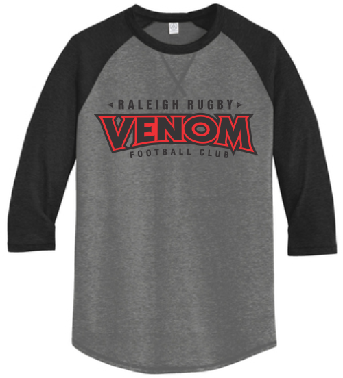 Raleigh Venom 3/4-Sleeve Tee, Coal/Black