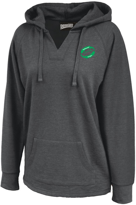 Juniata Hellbender Ladies-Cut V-Neck Hoodie
