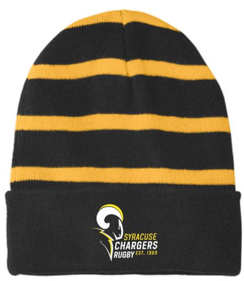 Syracuse Chargers Fleece-Lined Stripe Beanie