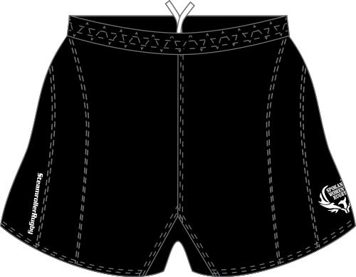 Spokane SRS Performance Rugby Shorts, Black