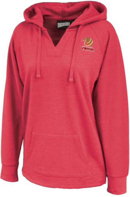 Raleigh Venom Ladies-Cut Hoodie, Heathered Red