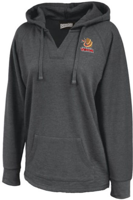 Raleigh Venom Ladies-Cut Hoodie, Heathered Black