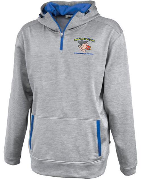 UD Alumni Landshark-Logo 1/4-Zip Performance Fleece Hoodie