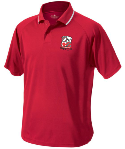 Coventry Rugby Performance Polo, Red