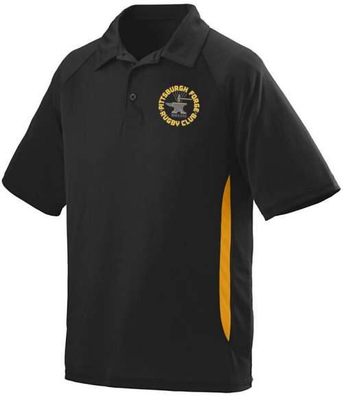 Forge Performance Polo, Black/Gold