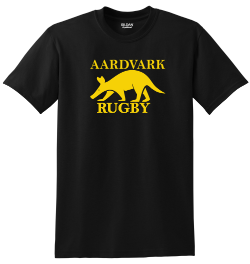 Rochester Aardvarks Rugby Tee, Black