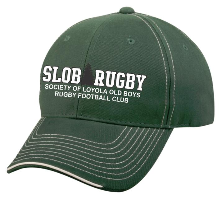 SLOB Rugby Contrast Stitch Twill Adjustable Hat