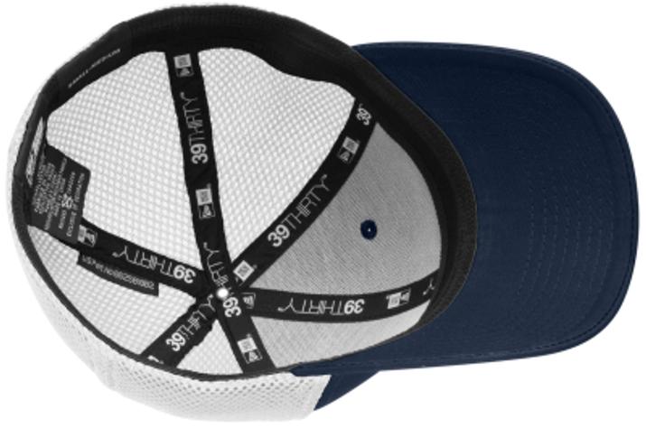 North Penn Stretch Mesh-Back Hat, Navy/White