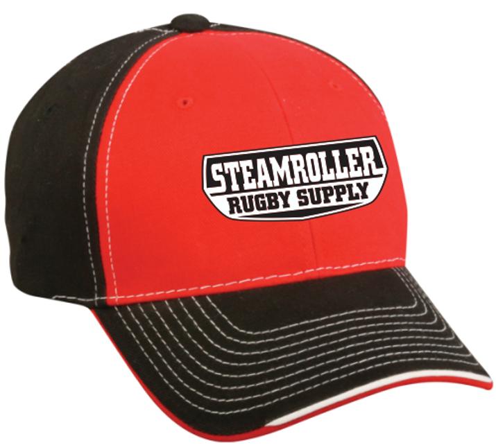 SRS Twill Adjustable Hat, Red/Black/white