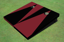 Maroon And Black Alternating Triangle No Stripe Custom Cornhole Board