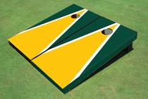 Yellow And Green Matching Triangle Custom Cornhole Board