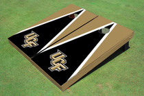 University Of Central Florida Black And Gold Matching Triangle Custom Cornhole Board