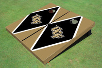 University Of Central Florida Black And Gold Matching Diamond Custom Cornhole Board