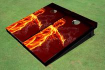 Fire Girl Cornhole Board