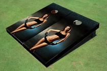 Girl Boxer Themed Cornhole Boards