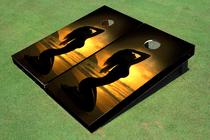 Girl Sunset Custom Cornhole Board
