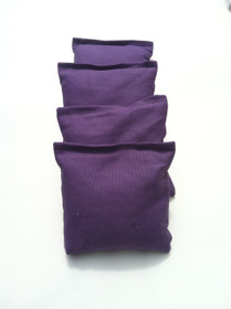 4 Purple Cornhole Bags