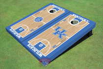 University Of Kentucky Alternating UK Logo & Rupp Arena Basketball Court Custom Cornhole Board
