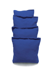 4 Royal Blue Cornhole Bags