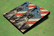 Statue Of Liberty Constitution Cornhole Board Set