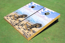 Beach Chairs #2 Cornhole Board Bag Toss set