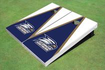 Georgia Southern University Head Logo Blue And White Matching Triangle Cornhole Boards
