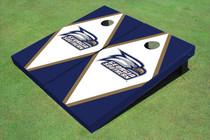 Georgia Southern University Head Logo White And Blue Matching Diamond Cornhole Boards
