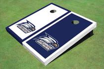 Georgia Southern University Head Logo Alternating Border Custom Cornhole Board