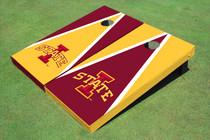 "Iowa State University ""I"" Alternating Triangle Custom Cornhole Board"
