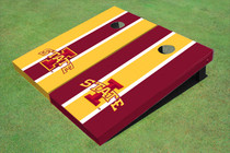 "Iowa State University ""I"" Alternating Long Stripe Cornhole Boards"